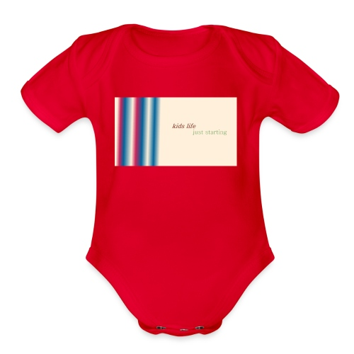 this is kids life - Organic Short Sleeve Baby Bodysuit