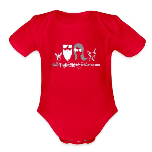 LTBA Head Shots - Organic Short Sleeve Baby Bodysuit