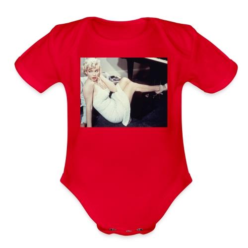 Marilyn Monroe Objects - Organic Short Sleeve Baby Bodysuit