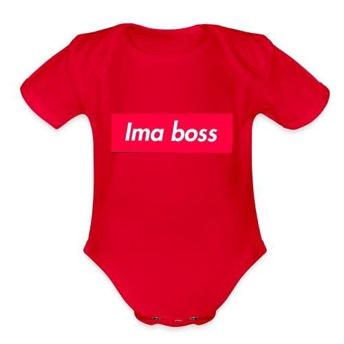 I'ma boss Merchandise - Organic Short Sleeve Baby Bodysuit