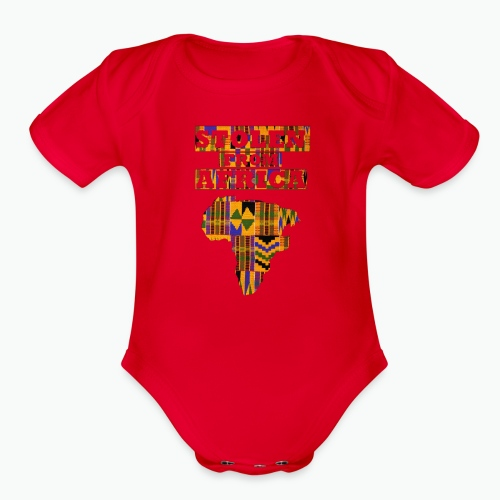 STOLEN FROM AFRICA Kente - Organic Short Sleeve Baby Bodysuit