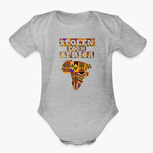 STOLEN FROM AFRICA Kente - Organic Short Sleeve Baby Bodysuit