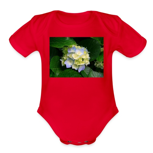 its a flower shirt - Organic Short Sleeve Baby Bodysuit