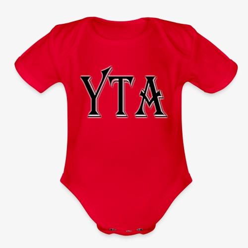 YTA Bold Lettering Print - Organic Short Sleeve Baby Bodysuit