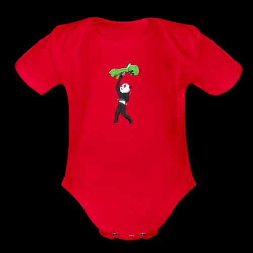 Cool Mine Craft Design - Organic Short Sleeve Baby Bodysuit