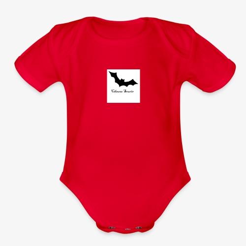 bat2 - Organic Short Sleeve Baby Bodysuit