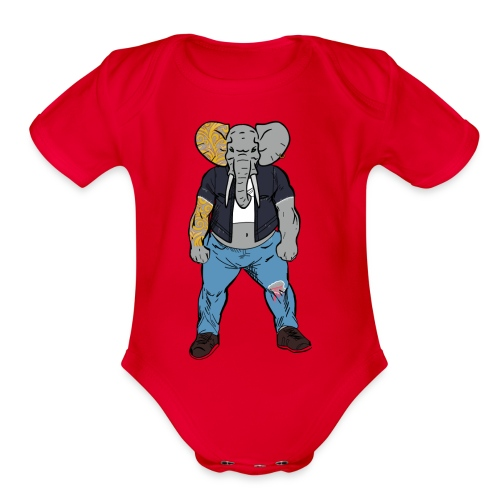 Dumbo Fell in the Wrong Crowd - Organic Short Sleeve Baby Bodysuit