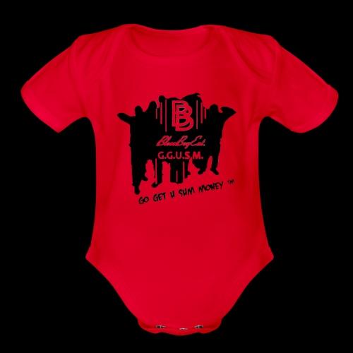BloccBoyEnt. - Organic Short Sleeve Baby Bodysuit