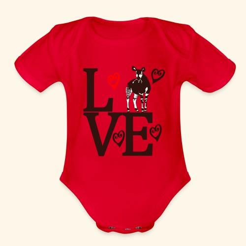 Okapi Love - Organic Short Sleeve Baby Bodysuit