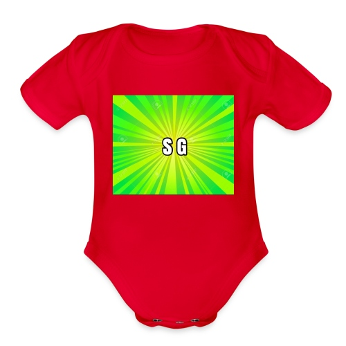 Second Gaming logo theme - Organic Short Sleeve Baby Bodysuit