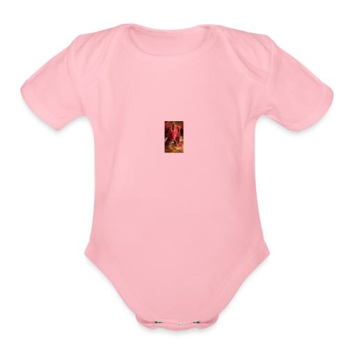 Dragon anger - Organic Short Sleeve Baby Bodysuit