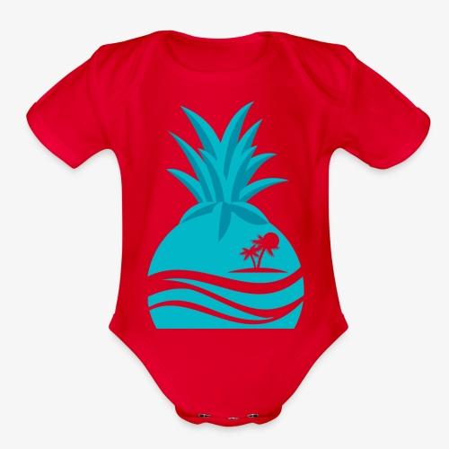 Island Pineapple - Organic Short Sleeve Baby Bodysuit