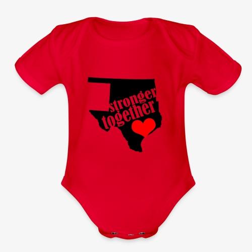 Oklahoma Strong   Stronger Together - Organic Short Sleeve Baby Bodysuit