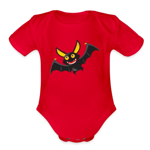 bathelloween - Organic Short Sleeve Baby Bodysuit