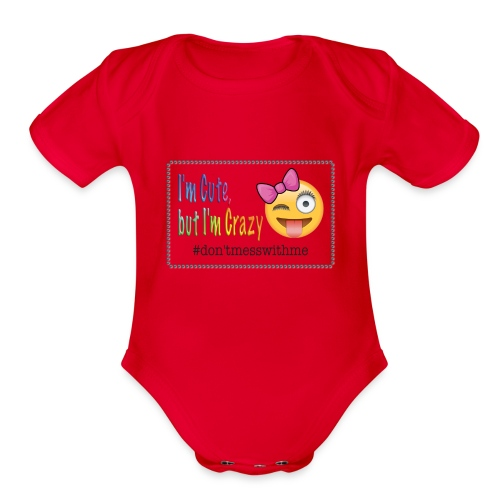 im cute - Organic Short Sleeve Baby Bodysuit