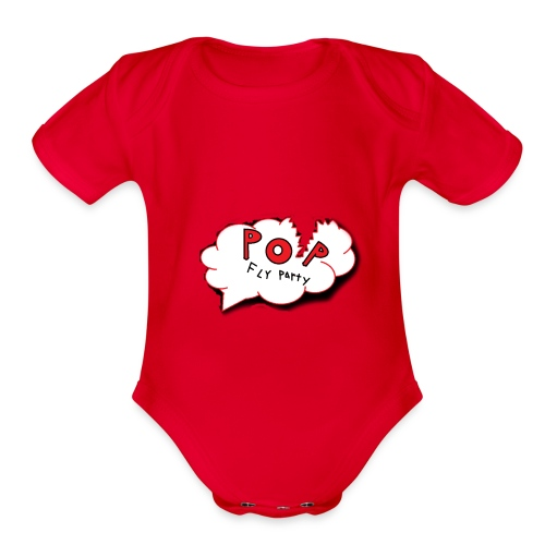 Original-PopFlyParty - Organic Short Sleeve Baby Bodysuit