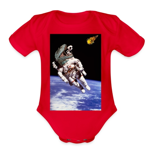 how dinos died - Organic Short Sleeve Baby Bodysuit