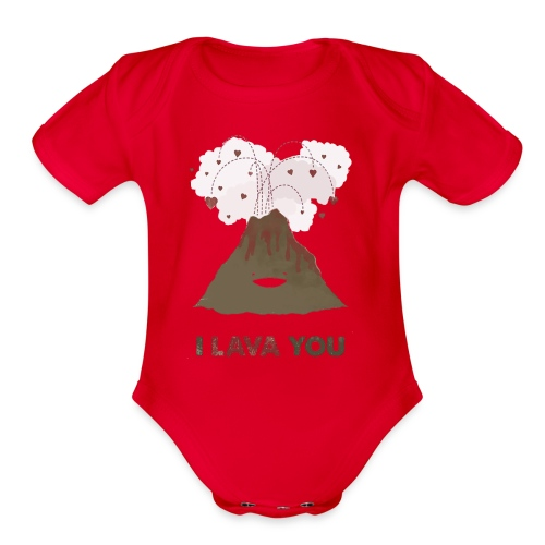 i lava you - Organic Short Sleeve Baby Bodysuit