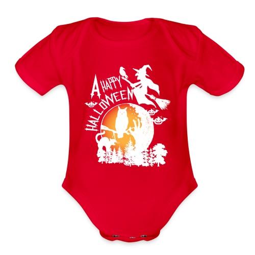 A Happy Halloween - Organic Short Sleeve Baby Bodysuit