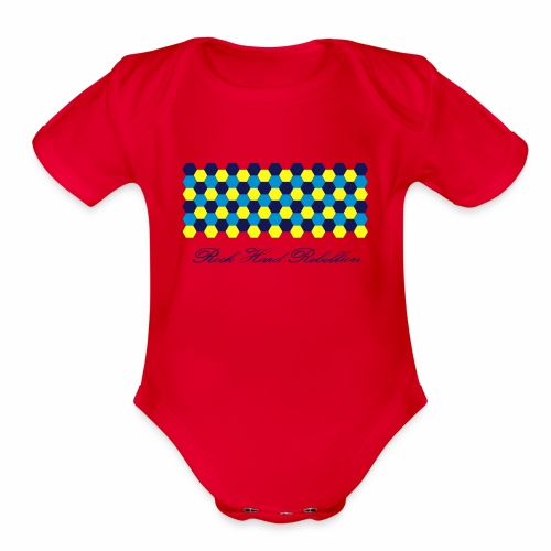 rock hard rebellion - Organic Short Sleeve Baby Bodysuit