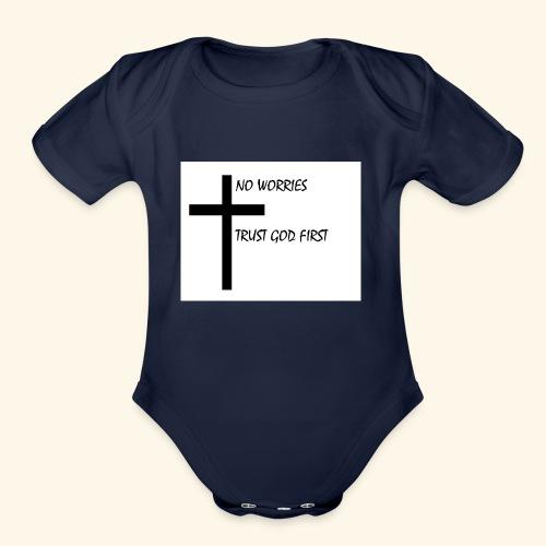 No Worries - Organic Short Sleeve Baby Bodysuit