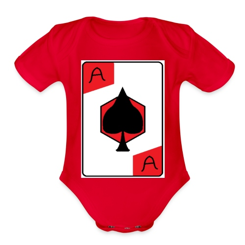 Ace of spades - Organic Short Sleeve Baby Bodysuit