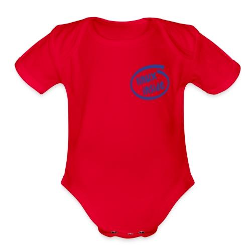 linux inside - Organic Short Sleeve Baby Bodysuit