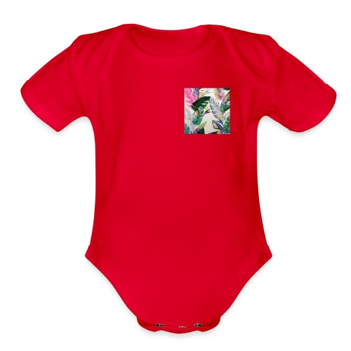 Organic Short Sleeve Baby Bodysuit - Km,Merch,Kb