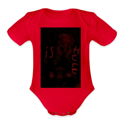 Death is here mercy hacked by: Lildeadpool2X - Organic Short Sleeve Baby Bodysuit