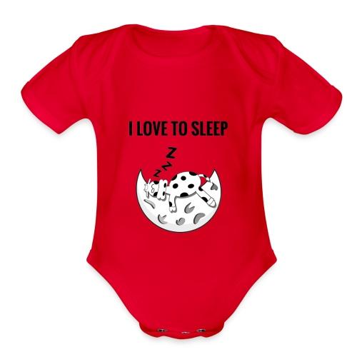 I love to sleep - Organic Short Sleeve Baby Bodysuit