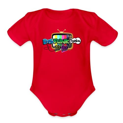 Disfunktional Tee Vee Logo - Organic Short Sleeve Baby Bodysuit