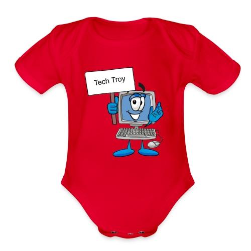 Tech Troy - Organic Short Sleeve Baby Bodysuit