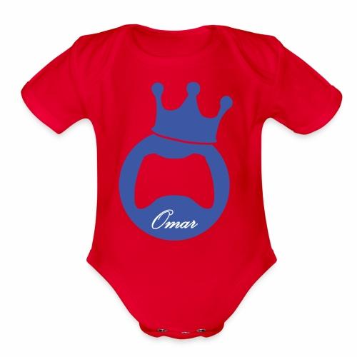 Logo lThekingomar - Organic Short Sleeve Baby Bodysuit