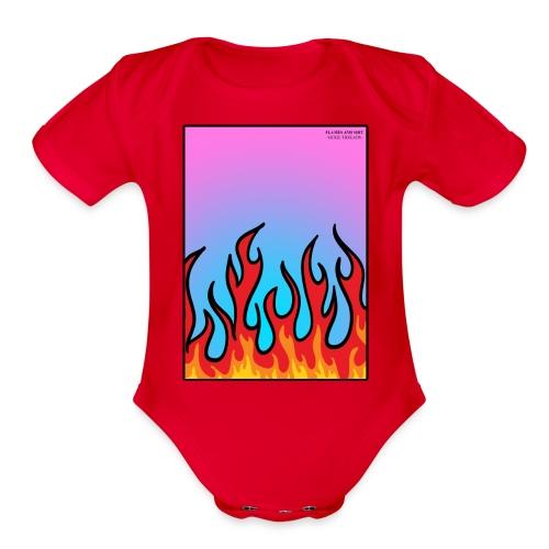 FLAMES 'N' STUFF - Organic Short Sleeve Baby Bodysuit
