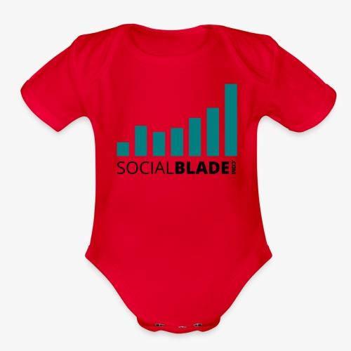 Traditional Logo - Organic Short Sleeve Baby Bodysuit