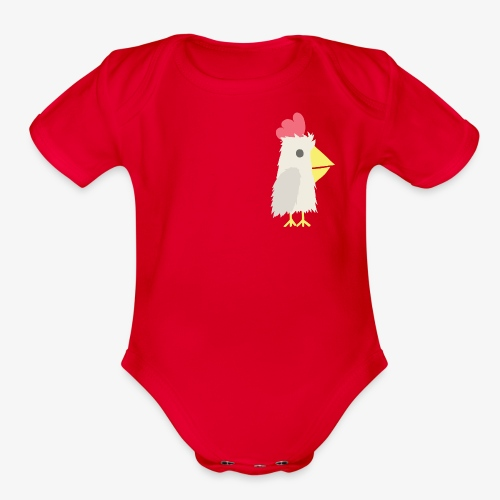 Chicken - Organic Short Sleeve Baby Bodysuit
