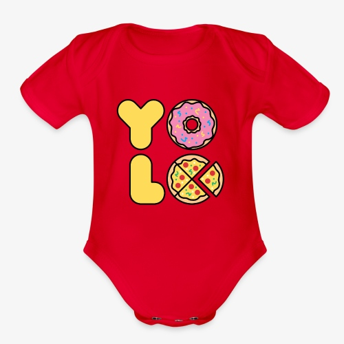 You Only Lift Once - Organic Short Sleeve Baby Bodysuit