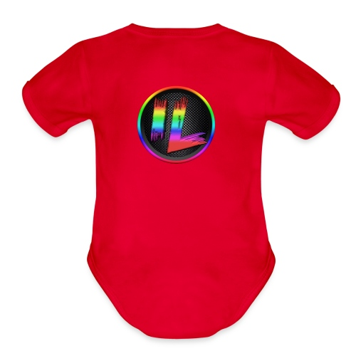 Infinite Laggs Logo Merch - Organic Short Sleeve Baby Bodysuit