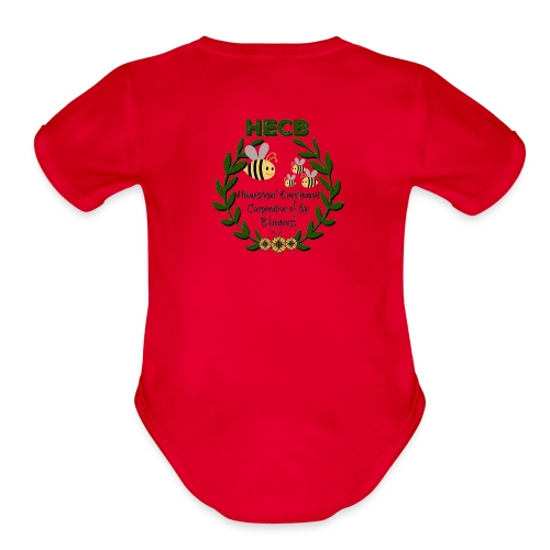 HECB Homeschool Enrichment Cooperative Bluegrass - Organic Short Sleeve Baby Bodysuit