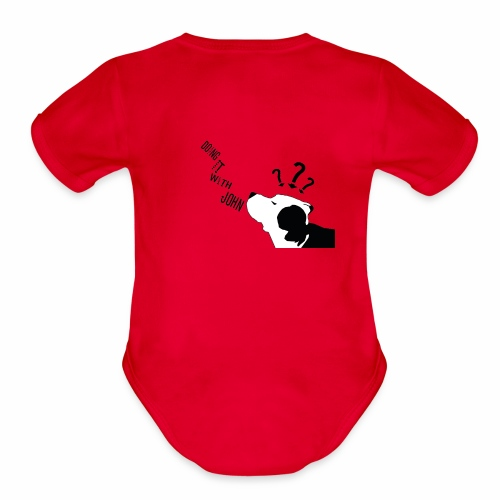 Doing it with john Logo - Organic Short Sleeve Baby Bodysuit