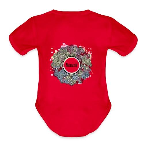 NAMASTE - Organic Short Sleeve Baby Bodysuit