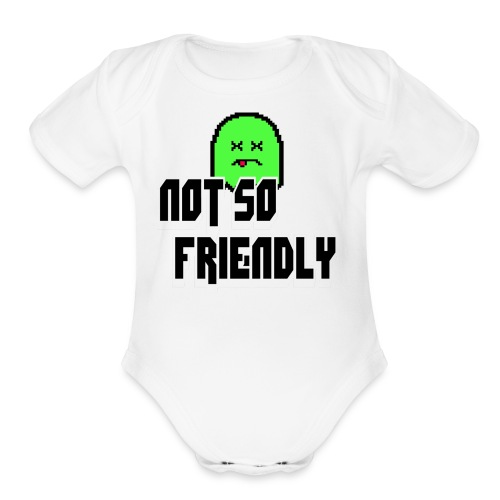 not_so_friendly_logo - Organic Short Sleeve Baby Bodysuit