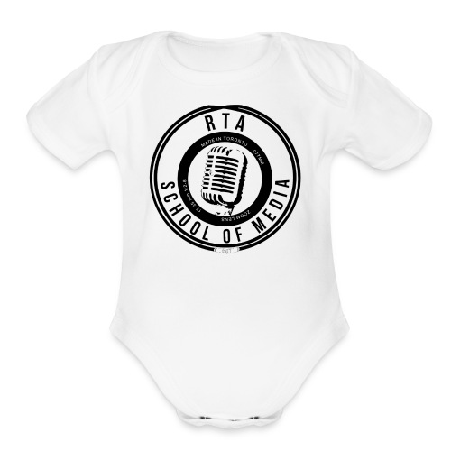 RTA School of Media Classic Look - Organic Short Sleeve Baby Bodysuit