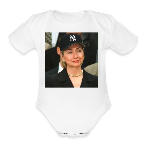 hillary_ny_large - Organic Short Sleeve Baby Bodysuit