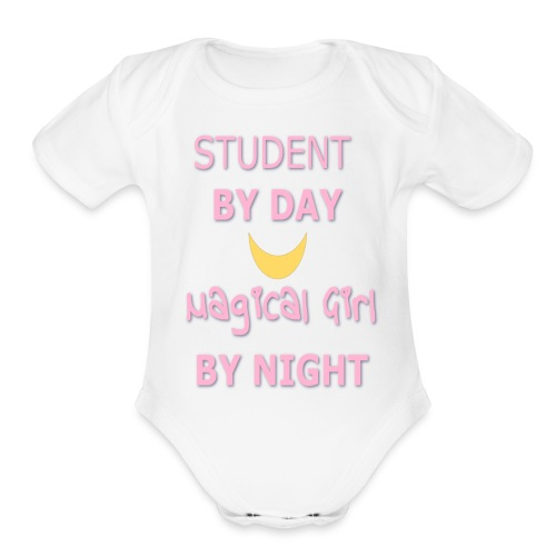 Fighting Evil By... - Organic Short Sleeve Baby Bodysuit