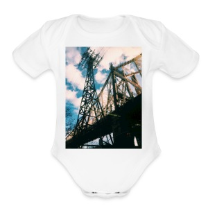 Ed Koch bridge - Short Sleeve Baby Bodysuit