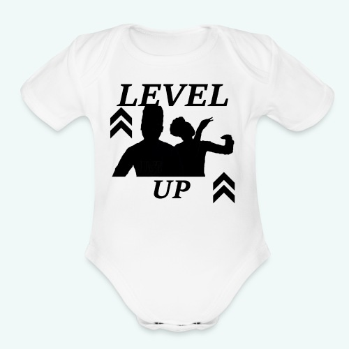 LEVEL UP LOGO TEE - Organic Short Sleeve Baby Bodysuit