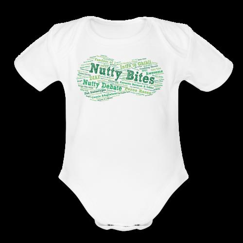 Nutty Bites 100! - Organic Short Sleeve Baby Bodysuit