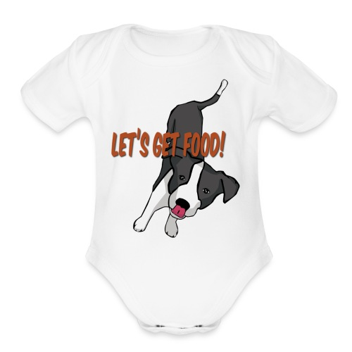 Foodie Dog Border Collie - Organic Short Sleeve Baby Bodysuit