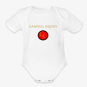 Channel Logo with Gaming Squad text - Short Sleeve Baby Bodysuit